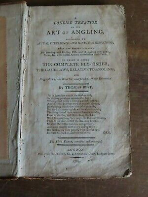 1794 Concise Treatise On The Art Of Angling By Best -Fly Fishing Game Laws Rare*