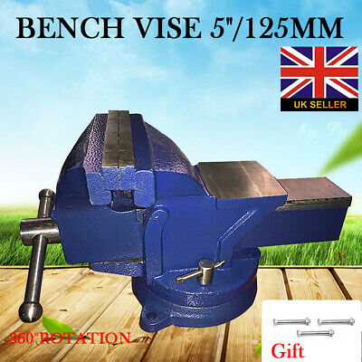 Engineer Jaw Bench Vice with Workshop Swivel Locking Base Clamp Work Cast Iron