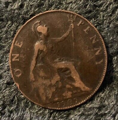 Great Britain : Edward Vii Penny 1907