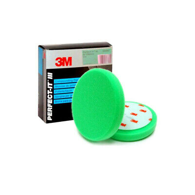 2 x 3M 50487 - PERFECT IT III Foam Compounding Pad Green - Pack of 2 - UK Stock