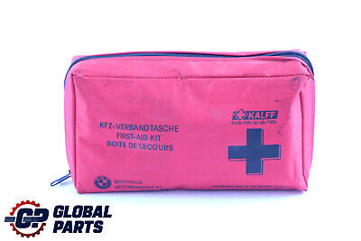 BMW Universal First Aid Emergency Medical Kit Pouch Red 8163269