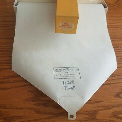 VTG Aeolian Player Piano Music Roll 1790 Ramblin' Rose Played by Cook & Laney