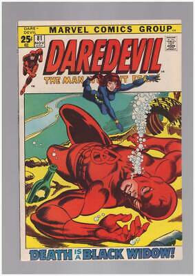 Daredevil # 81  Death is a Black Widow ! 52 pg issue !  grade 8.5 scarce book !