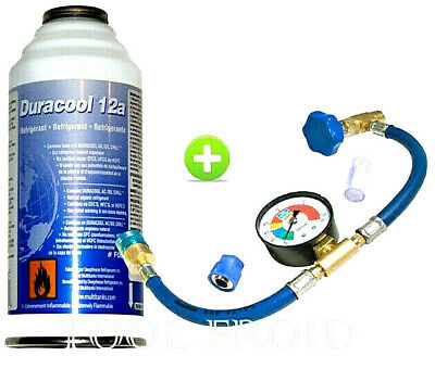Kit complet de recharge gaz 12a, Duracool 12A, R134A,  Frostycool,