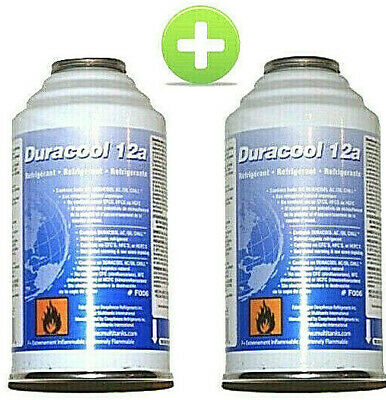 Lot 2 recharges DURACOOL R134A, Frostycool ou équivalent, climatisation auto 12a