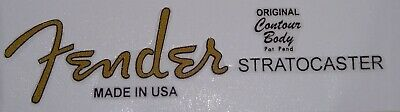 Fender Stratocaster Logo Headstock Vinyl Decal/Sticker-better than a waterslide