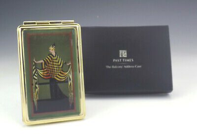 Vintage Past Times - Art Deco Style Brass Address Book - Boxed!