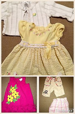 d4f3551a0777 EUC 5 pc LOT 3 6 months Baby Girls Mixed Name Brand Polo Gymboree Youngland