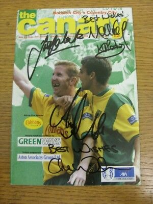 11/12/1999 Autographed Programme: Norwich City v Coventry City [FA Cup] - 5 Sign
