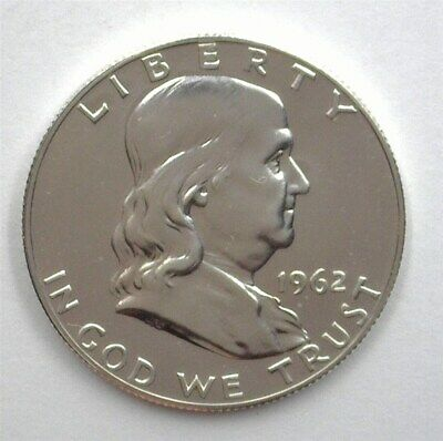 1962 Franklin Silver 50 Cents  Near Perfect Proof Dcam