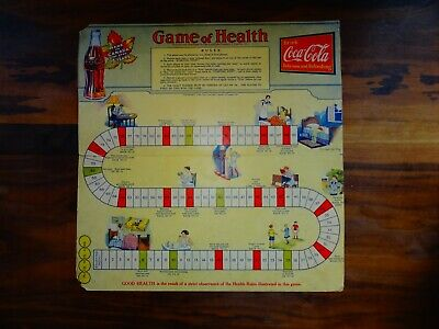"""1934 Coca-Cola Very Scarce """"Game of Health"""" Board Game 16.25"""" x 16.25"""""""