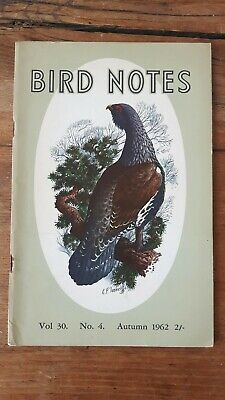 Vintage RSPB 'Bird Notes' - Capercaillie cover painting by CF Tunnicliffe