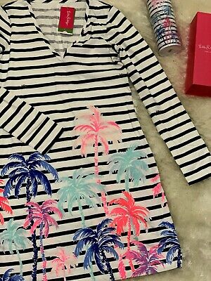 98ea23b74ef36f NWT LILLY PULITZER Beacon Dress Desert Palm Stripe Engineered Xs ...
