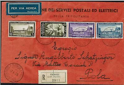 1938  Libya   Italian Colony The  Xii Fair   4 Values On Cover See Scan