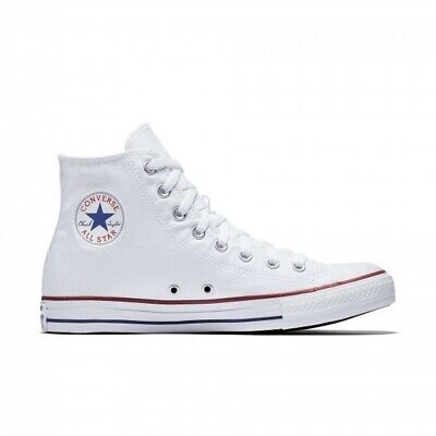 927c6757005535 Boxed New Converse Chuck Taylor All Star Canvas Hi Top Optical White Size 9    43
