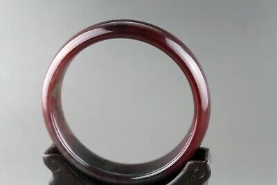 Exquisite Chinese old antique red blood jade hand-carved bangle bracelet 0022