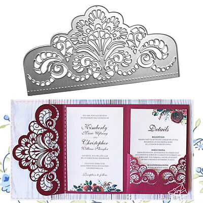 Crown Lace Metal Cutting Dies Invitation Scrapbooking Craft Die Cut Wedding Dies