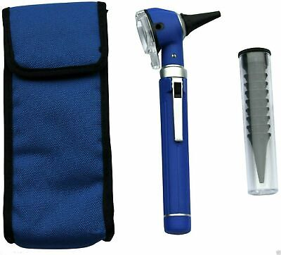 Fiber Optic Mini Otoscope Blue Color (Diagnostic Set)