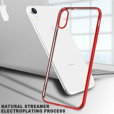Coque iPhone XR Ultra Mince Premium TPU Souple Silicone Plating Rouge 6.1pouces