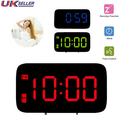 Electric Digital LED Snooze Alarm Time Clock Night Backlight Support USB Charge