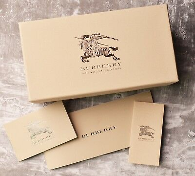 636ad38aaa8e BURBERRY EMPTY eyeglass sunglasses kraft box case with info booklets  authentic