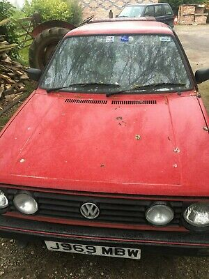 vw wolkswagen mark 2 mars red golf 1600 petrol auto needs carb & battery & mot !