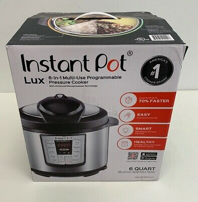 Instant Pot LUX60V3 V3 6 Qt 6-in-1 Muti-Use Programmable Pressure Cooker, Slow
