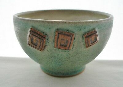 SMALL Outstandingly Intriguing SIGNED d.s. Art Pottery BOWL or CHAWAN Wonderful