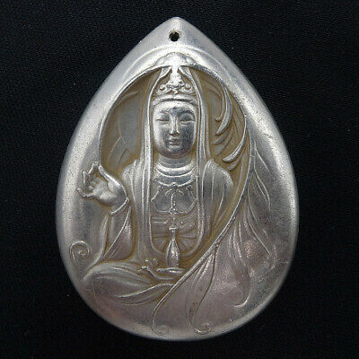 Necklace Pendants Jewelry Collection Hand Relief Buddha Natural Ancient Silver