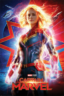 CAPTAIN MARVEL MOVIE POSTER, US Advance Version, size 24x36