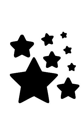 High Detail Stars Airbrush Stencil - Free UK Postage