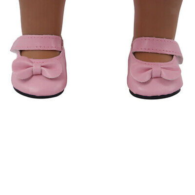 Adorable Mini Girl Dolls Shoes for 18inch American Doll Dress up Accs Pink