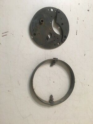 Antique Roth Bros Chronometer Plate & Unrelated Ring US Maritime Commission
