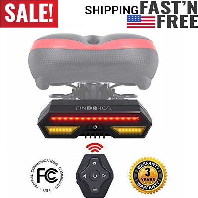 FINDANOR Bike Turn Signals Upgrated Wireless Remote Control Bike Tail Light