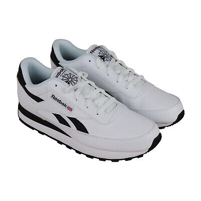 d4087f4229b Reebok Classic Renaissance Mens White Leather Athletic Training Shoes 10