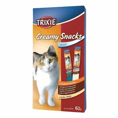 Trixie Creamy Snacks for Cats 6 x 15g, 6 Pack