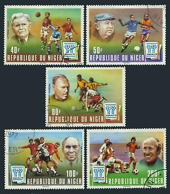 Niger 412-416,CTO.Michel 593-597. World Soccer Cup Argentina-1978.