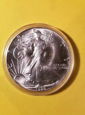 1986 1 oz AMERICAN SILVER EAGLE BRILLIANT UNCIRCULATED Silver Bullion