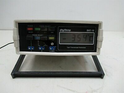 Physitemp BAT-10 Type T Thermocouple Thermometer Wide Range Unit
