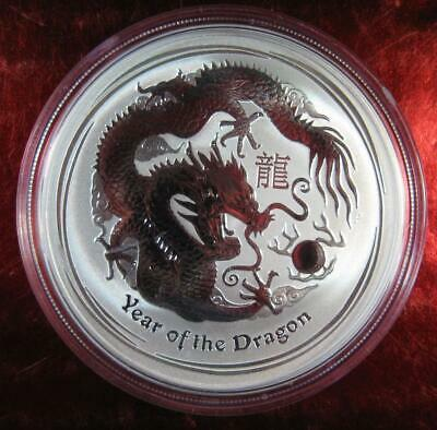 "2012 Silver Australian ""Year of the Dragon"" Lunar - 1 oz. Perth Mint Coin Sealed"