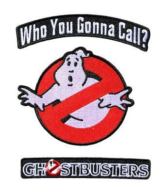 Ghostbusters Who You Gonna Call Patch (3pc Bundle Iron on Sew on)