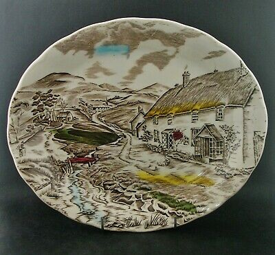 Grindley QUIET DAY SERVING PLATTER Vintage English China Dinnerware c1940s