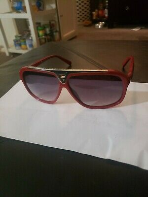 a94442c4371 Louis Vuitton Evidence Sunglasses Z0286W Red Gold Millionaire Monogram Style