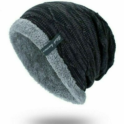 38ab506cbbd5c Winter Beanies Slouchy Chunky Hat for Men Women Warm Soft Skull Knitting  Caps