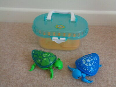 LITTLE LIVE PETS TURTLE TANK WITH TURTLE TOY x 2