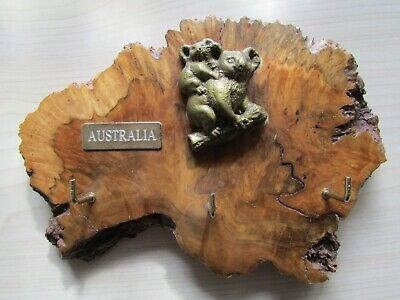 Vintage Mallee Wood Hand Crafted Key Rack By John Weldon Australia.