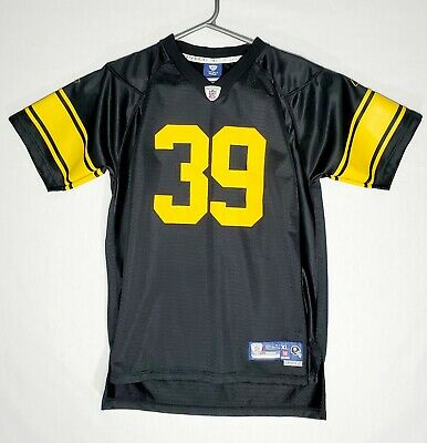 e200513468a Rebook NFL Pittsburgh Steelers Willie Parker  39 Black Yellow Jersey Size XL