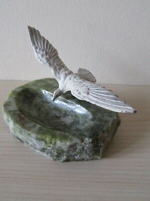 Vintage Seagull Marble Ashtray / Pin Dish.