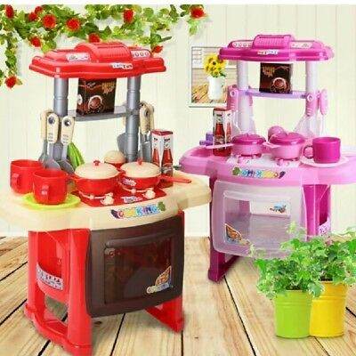 Portable Electronic Kids Children Kitchen Cooking Girls Toy Cooker Play Set Gift