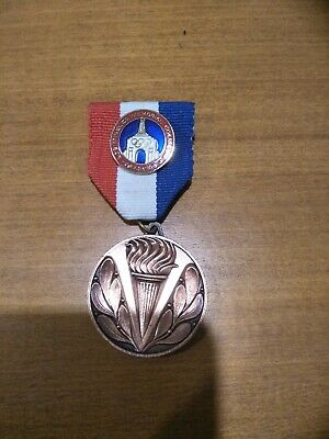 Rare 1984 United States Of America Usa Los Angeles Colosseum Olympic Games Medal